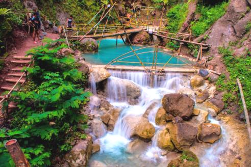 Tempat Wisata Alam Kedung Pedut, Serunya Liburan Ditemani Kesegaran Waterpark Alami Khas Jogja